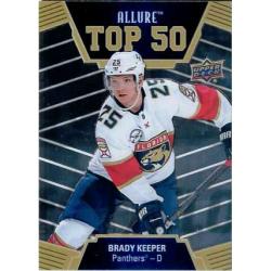 BRADY KEEPER 2019-20 UPPER DECK ALLURE TOP 50