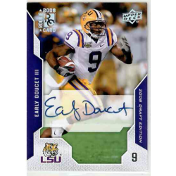 EARLY DOUCET 3 2008 UPPER DECK DRAFT EDITION AUTO