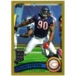 JULIUS PEPPERS 2011 TOPPS GOLD /2011