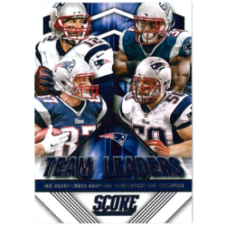 BRADY / GRAY / GRONKOWSKI / NINKOVICH 2015 SCORE TEAM LEADERS