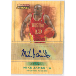 MIKE JAMES 2007 TOPPS TRADEMARK MOVES AUTO /49