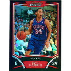 DEVIN HARRIS 2008-09 BOWMAN CHROME REFRACTOR /499