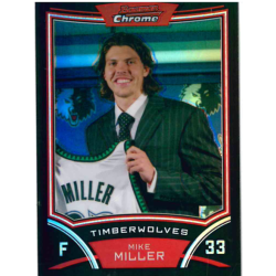 MIKE MILLER 2008-09 BOWMAN CHROME REFRACTOR /499