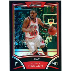 UDONIS HASLEM 2008-09 BOWMAN CHROME REFRACTOR /499