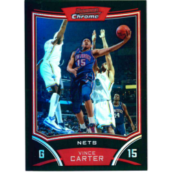 VINCE CARTER 2008-09 BOWMAN CHROME REFRACTOR /499