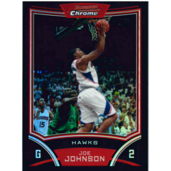 JOE JOHNSON 2008-09 BOWMAN CHROME REFRACTOR /499