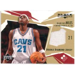 DARIUS MILES 2003 UPPER DECK BLACK DIAMOND DOUBLE DIAMOND JERSEY /75
