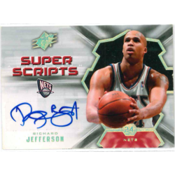 RICHARD JEFFERSON 2007-08 SPX SUPER SCRIPTS AUTO