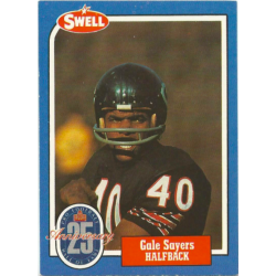 GALE SAYERS 1986 SWELL 25TH ANNIVERSARY