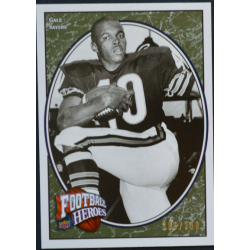 GALE SAYERS 2008 UD FOOTBALL HEROES LEGENDARY HEROES GREEN /350