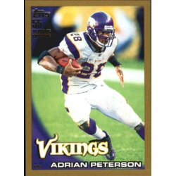 ADRIAN PETERSON 2010 TOPPS GOLD /2010