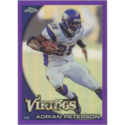 ADRIAN PETERSON 2010 TOPPS CHROME PURPLE REFRACTOR /555