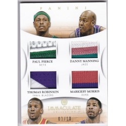 PIERCE/MANNING/T ROBINSON/M MORRIS 2012 PANINI IMMACULATE 4 PATCHES PRIME 27 01/10