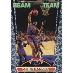 DENNIS RODMAN 1992 TOPPS STADIUM CLUB BEAM TEAM 19 OF 21