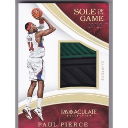 PAUL PIERCE 2015 PANINI IMMACULATE SOLE OF THE GAME 14 03/18