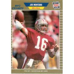 JOE MONTANA 1989 PRO SET NFC CHAMPS ( EXMT CONDITION )