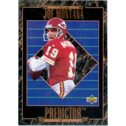 JOE MONTANA 1995 UPPER DECK PREDICTOR PROMOTIONAL CARD
