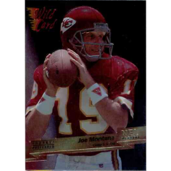 JOE MONTANA 1993 WILD CARD HOBBY PREFERRED