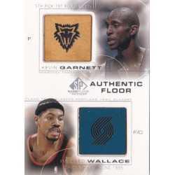 GARNETT/WALLACE 2000 UPPERDECK SP GAME FLOOR COMBOS C30