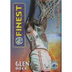 GLEN RICE 1995 TOPPS MYSTERY FINEST BORDERLESS REFRACTOR GOLD M18