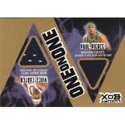 PAUL PIERCE / VINCE CARTER 2005 TOPPS LUXURY ONE ON ONE JERSEY OOP-PC 1/1