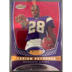 ADRIAN PETERSON 2008 TOPPS FINEST MOMENTS /629 - AP10