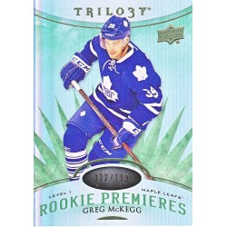 "CREG McKEGG 2014-15 UD TRILOGY ROOKIE "" GREEN "" /199"