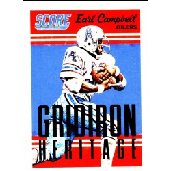 "EARL CAMPBELL 2015 SCORE "" GRIDIRON HERITAGE """