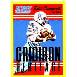 "EARL CAMPBELL 2015 SCORE "" GRIDIRON HERITAGE "" GOLD"