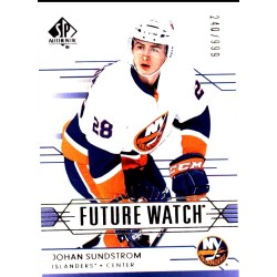 "OHAN SUNDSTROM 2014-15 SP AUTHENTIC "" FUTURE WATCH "" /999"